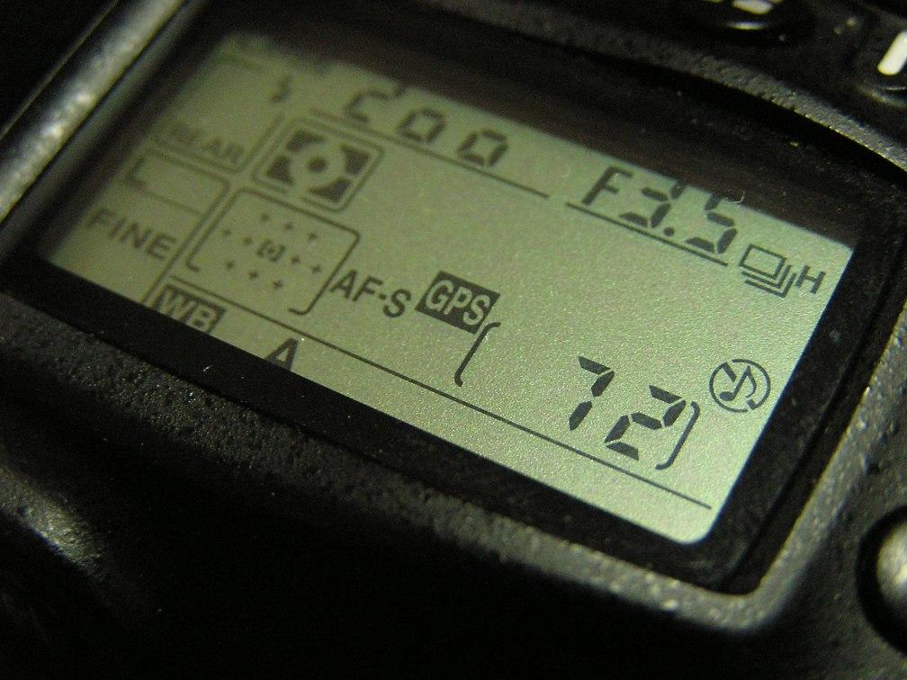 GPS on top screen