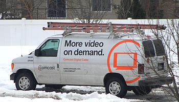 English: Comcast service van, Ypsilanti Townsh...