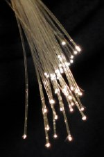 English: Fibre optic strands