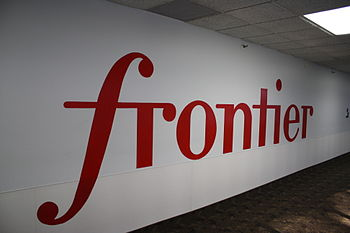 English: Frontier Communications logo at Front...