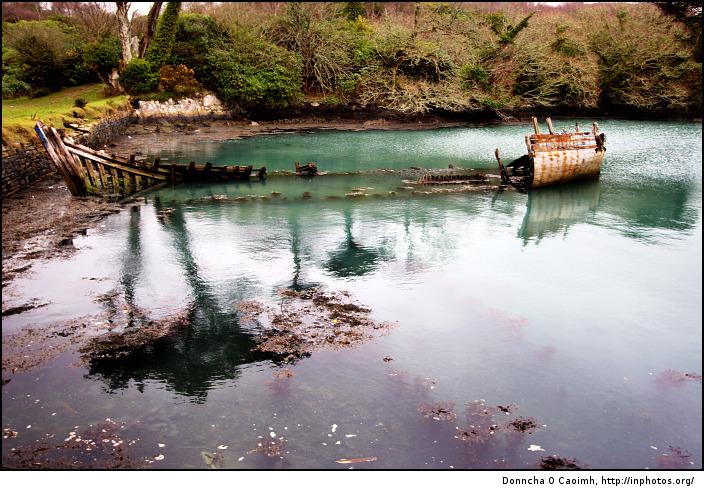 Boat Wreck at Dunboy Castle