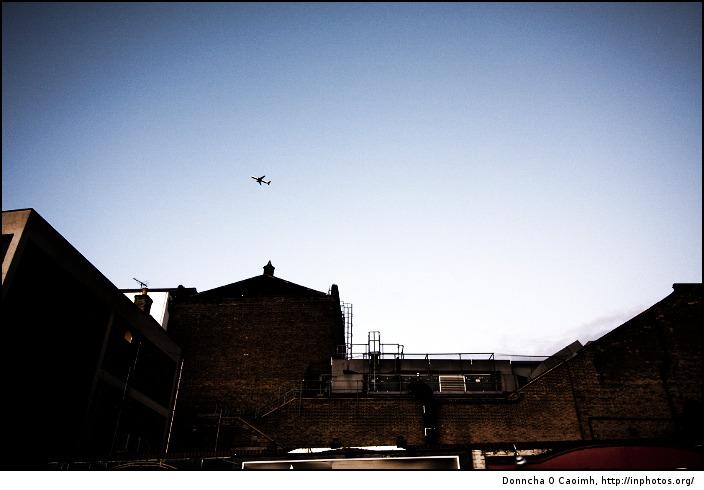 Lone plane over Windsor