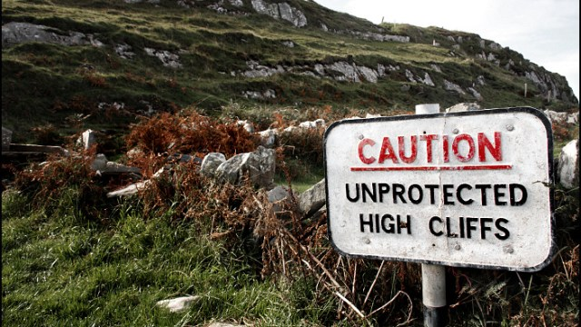 Caution! Unprotected High Cliffs