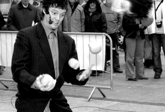 Mr Crow performs for St Patrick's Festival 2005 in Cork