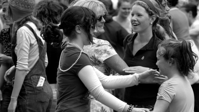 Girls dancing on the street