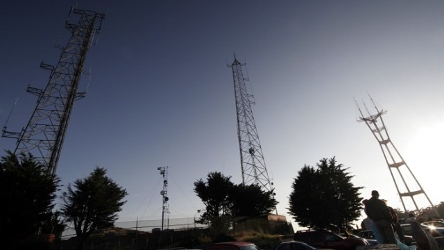 Antennas in the sky like sentinels