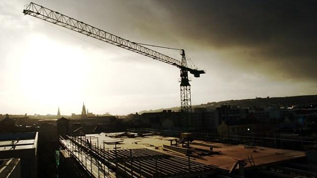 Building a City Sunset