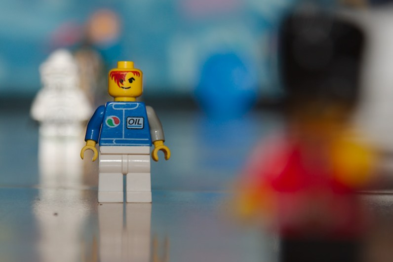 Lego characters shot at f/5.6