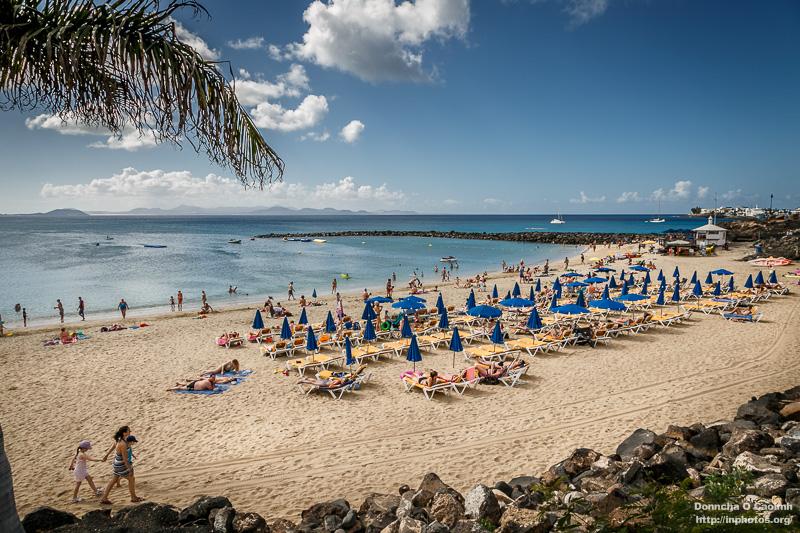 On the Beach in Playa Blanca, Lanzarote