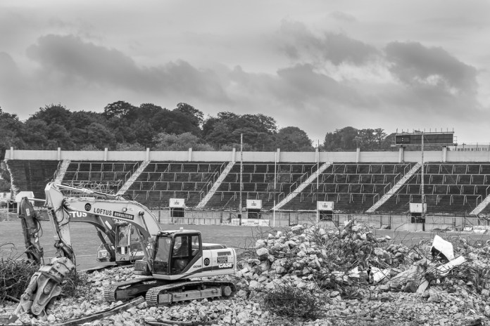 The demolition of Pairc Ui Chaoimh