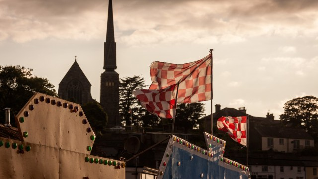 Flags wave in Crosshaven