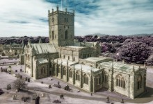 St Davids Cathedral in Psuedo Infrared