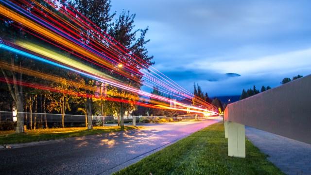 Light Trails in Whistler