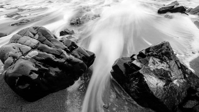 Rocks on the beach at Knockmahon Slipway