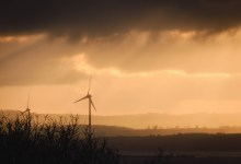 Wind Turbines in the Evening