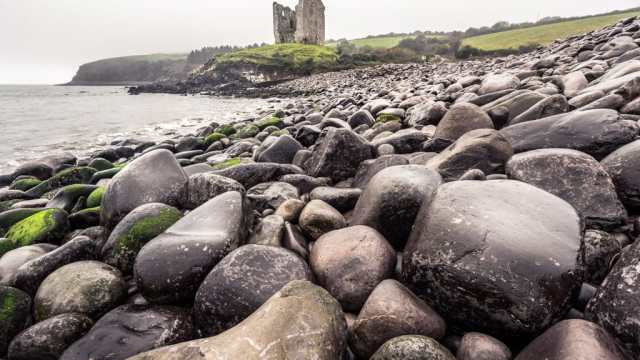Minard Castle by the Sea