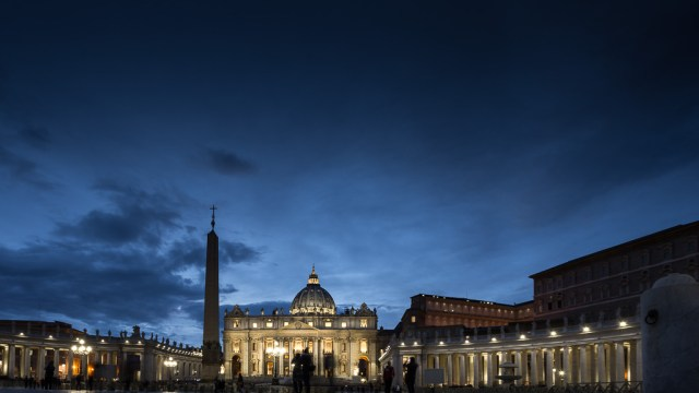 St. Peter's Square in the Evening