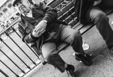 Man Alone on a Street Seat