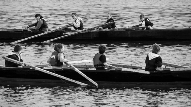 Oars down and chat