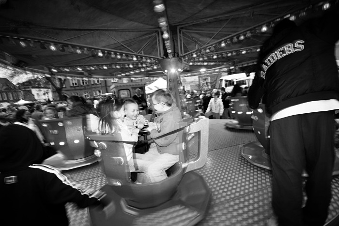 Children on the merry-go-round