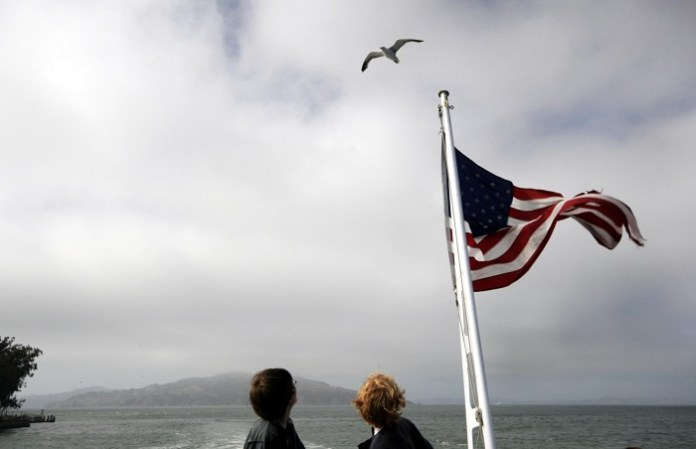 The gull and the flag