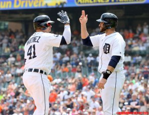 Victor Martinez and J.D. Martinez