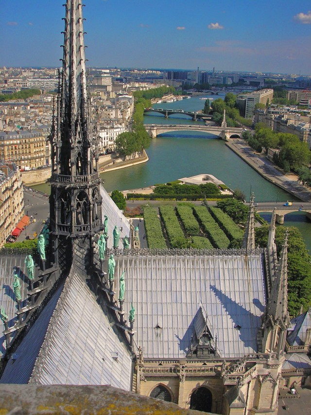 You can actually go up to the top of Notre Dame which gives you amazing views of the city and gives you a close up view of the gargoyles. Just take a few macaroons to sustain up all those stairs!