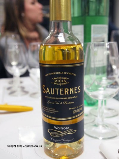 Sauternes, dessert and wine matching at Leiths School of Food and Wine