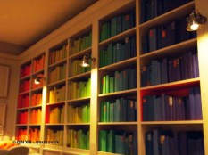 Rainbow library at Bistro du Vin, Soho