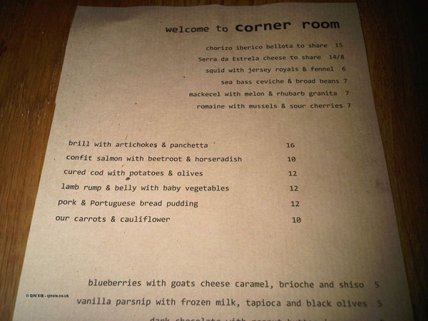 Corner Room, Bethnel Green, Review