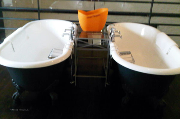 Twin baths at Hotel du Vin, Bristol
