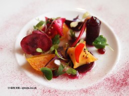 Beets and curds at The Elephant Restaurant, Torquay