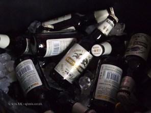 Bottles of beer at Kirin Ichiban Yatai