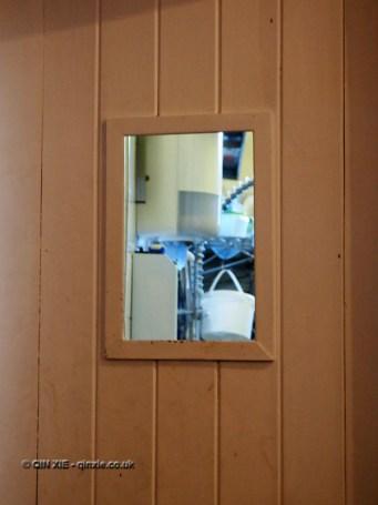 Door to kitchen at Charles Lamb