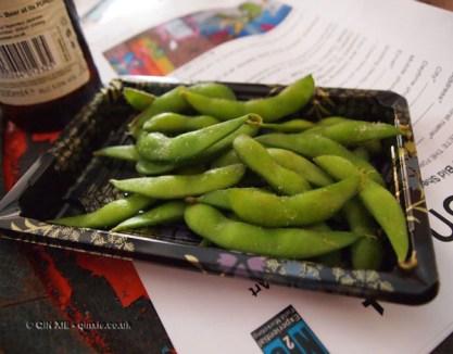 Edamme beans at Kirin Ichiban Yatai