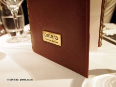 Menu at Patara, Greek Street