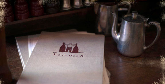 Terroirs wine bar menu