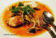 Grilled black cod with yellow bean sauce at Patara, Greek Street