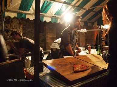 Pizza stall at The Long Table