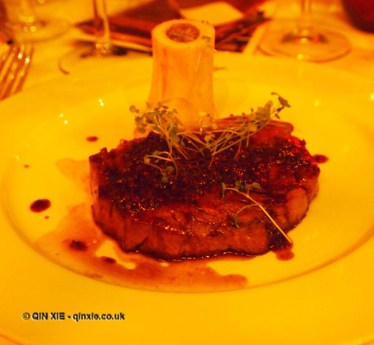 Steak Borderlaise on Christmas Celebration Menu at Malmaison, London
