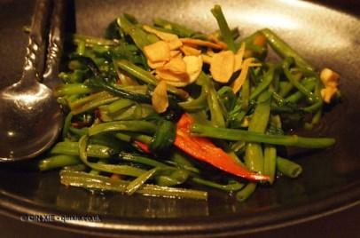 Stir-fried vegetables at Patara, Greek Street