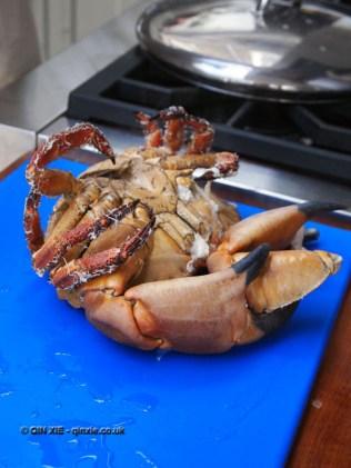 Boiled crab at Fish in a Day, Food Safari