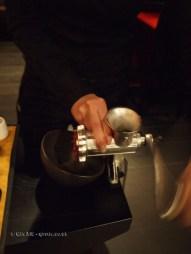 Meat grinder at Dego, London