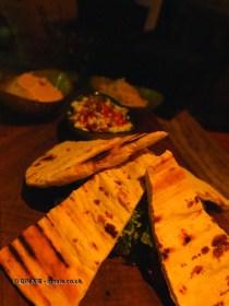 Mediterranean flatbread at The Refinery Bar