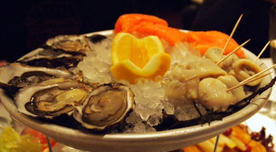Seafood platter at Le Café Anglais