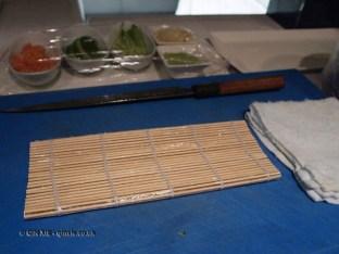 Sushi workstation, sushi making at Ichi Sushi and Sashimi Bar