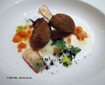 Veal croquettes at Apsley's, The Lanesborough Hotel
