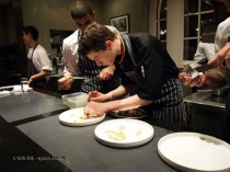 Chefs at the pass, Mauro Colagreco and Nuno Mendes at Viajante