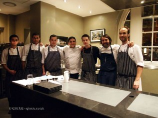All the chefs, Mauro Colagreco and Nuno Mendes at Viajante