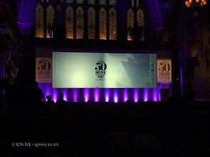 Empty hall at the World's 50 Best Restaurants 2012